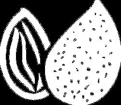 Almonds white